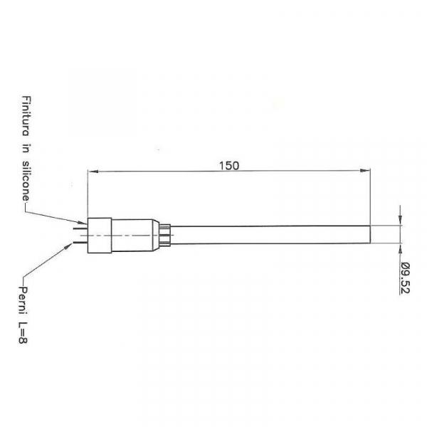 Rezistenta set teaca si rezistenta 9,52mm 150mm, 230wati 1