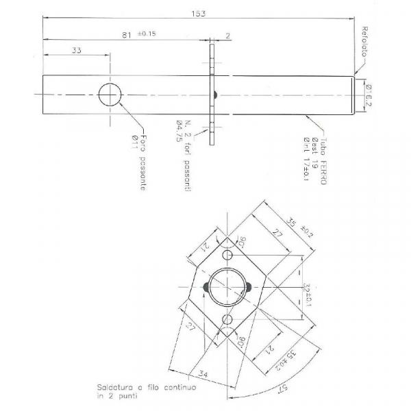 Rezistenta set teaca si rezistenta 9,52mm 150mm, 230wati 2