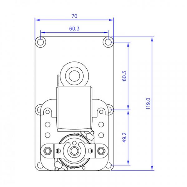 Motor reductor snek, centrale peleti,4,75 rpm ax8,5mm 3