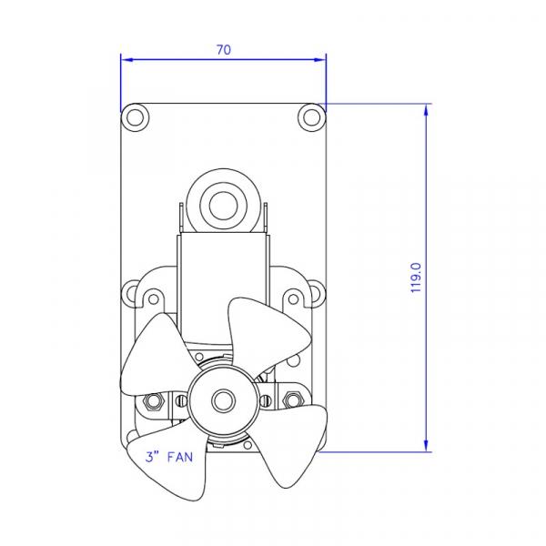 Motor reductor snek, centrale peleti,5,3rpm  ax 8,5mm 1