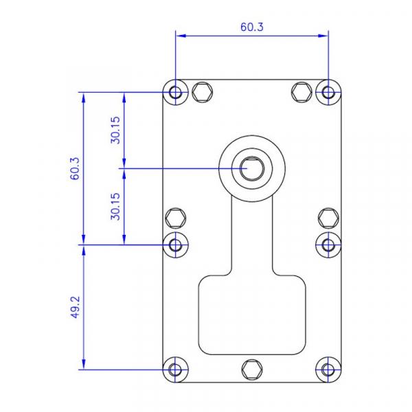 Motor reductor snek, centrale peleti, 3 rpm ax 8,5mm 3