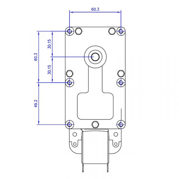 Motor reductor snek, centrale peleti, 3 rpm, ax 8,5mm 2