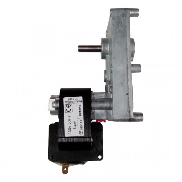 Motor reductor snek, centrale peleti, 3 rpm, ax 8,5mm 0