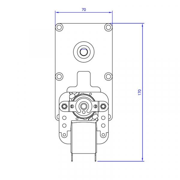 Motor reductor snek, centrale peleti, 3 rpm, ax 8,5mm 3