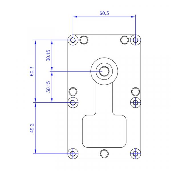 Motor reductor snek, centrale peleti, 2 rpm, ax 8,5mm 1