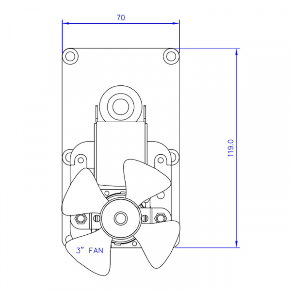 Motor reductor snek, centrale peleti, 8 rpm ax 8,5mm 3
