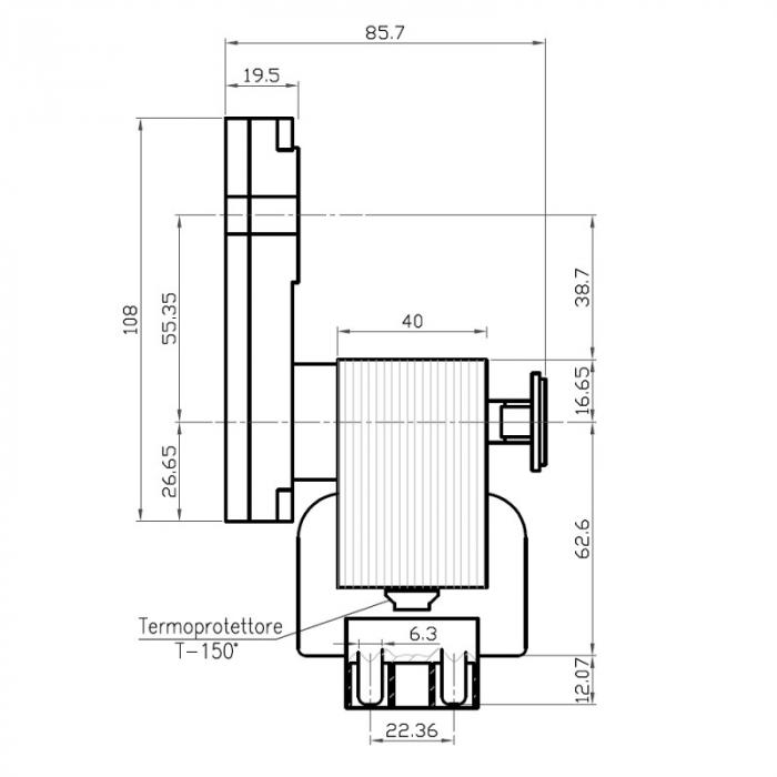 Motor reductor snek, centrale peleti,2 rpm fara ax K9117057 [2]