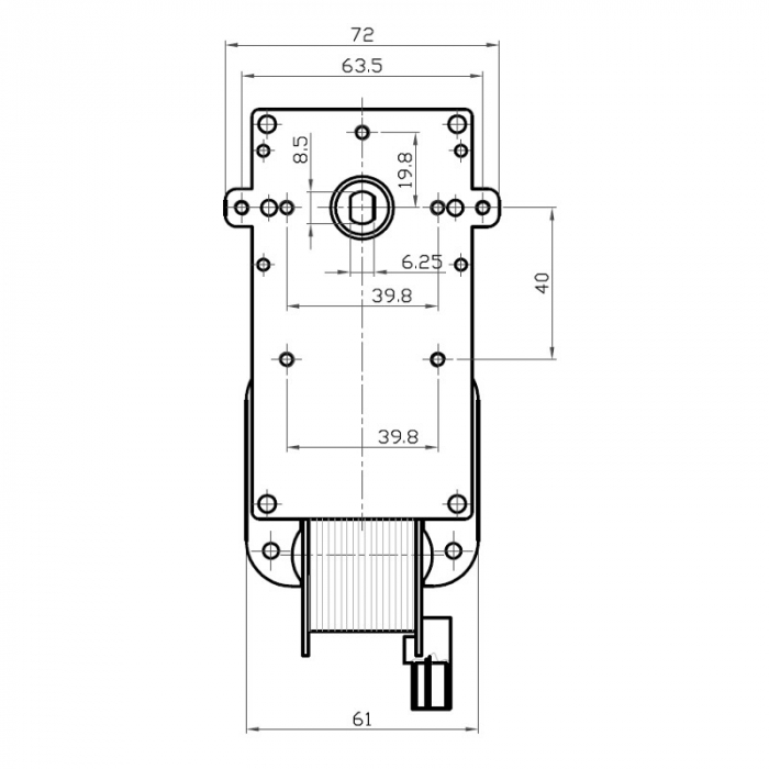 Motor reductor snek, centrale peleti,2 rpm fara ax K9117057 [3]
