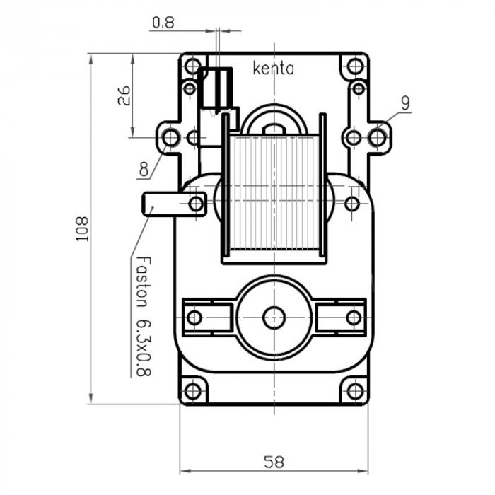 Motor reductor snek, centrale peleti,5 rpm fara ax [1]