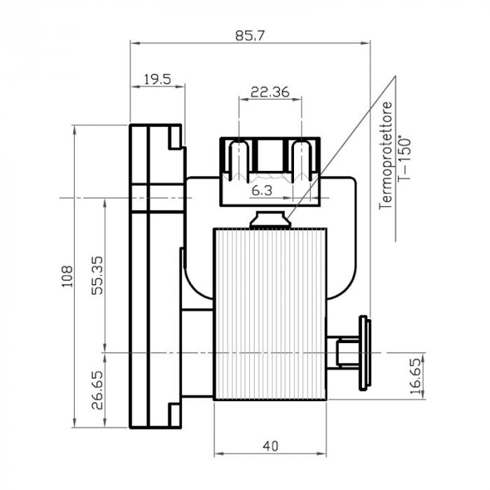 Motor reductor snek, centrale peleti,5 rpm fara ax [2]