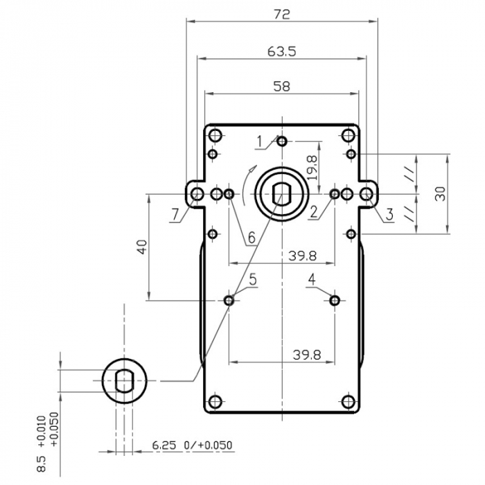 Motor reductor snek, centrale peleti,5 rpm fara ax [3]