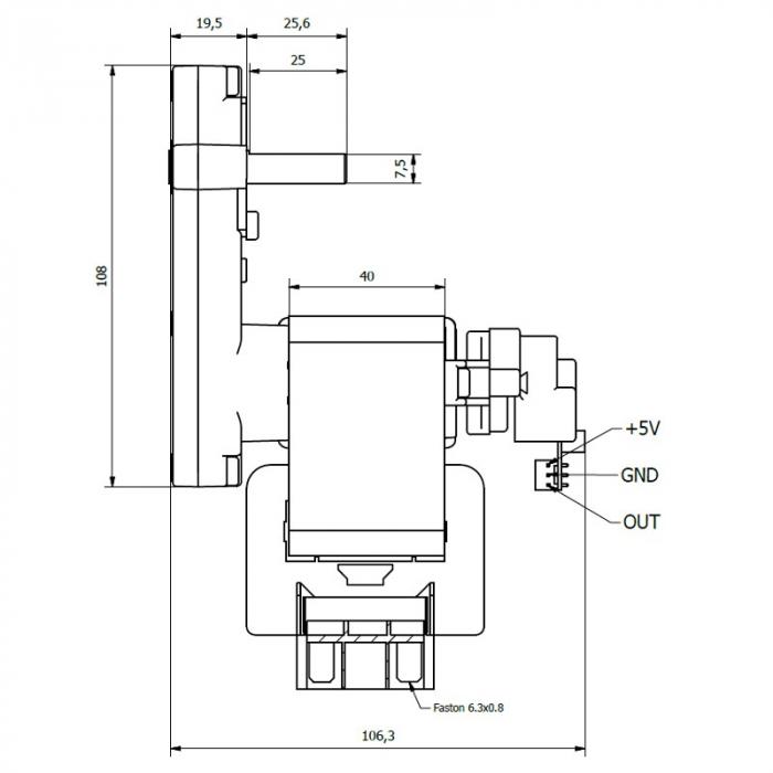Motor reductor snek, centrale peleti,3 rpm ax 8,5mm K9117120 1