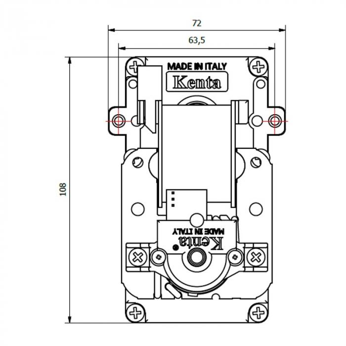 Motor reductor snek, centrale peleti,1,5 rpm ax 8,5mm 1