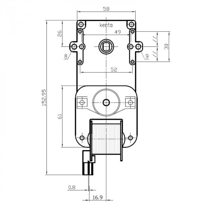 Motor reductor snek, centrale peleti,1,5 rpm ax 8,5mm K9115004 1