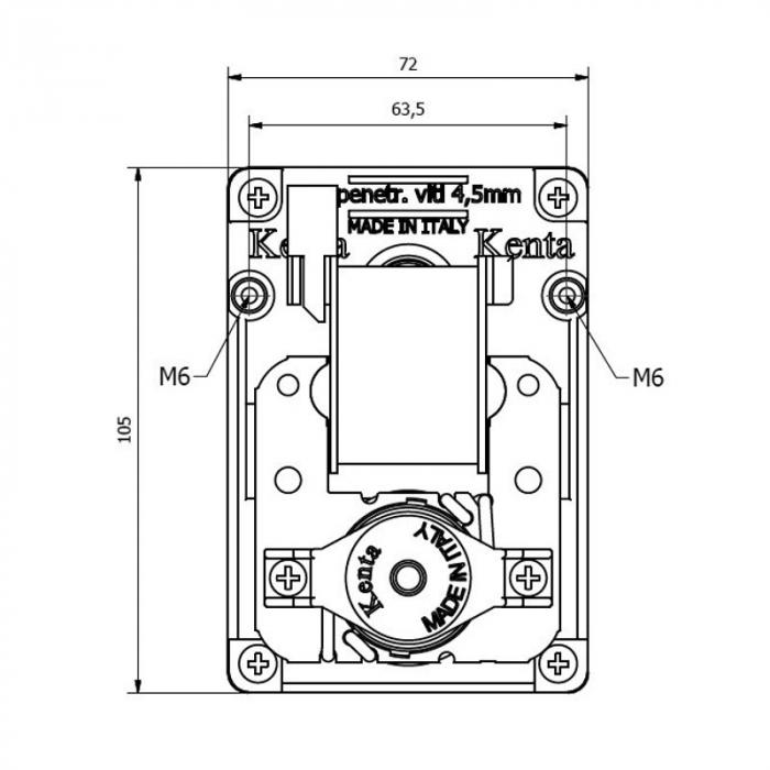 Motor reductor snek, centrale peleti,5 rpm ax 9,5mm Kenta  K9177331 [1]