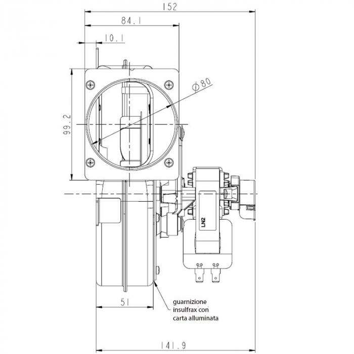 Extractor - extractor de fum pentru sobele cu peleți. 2