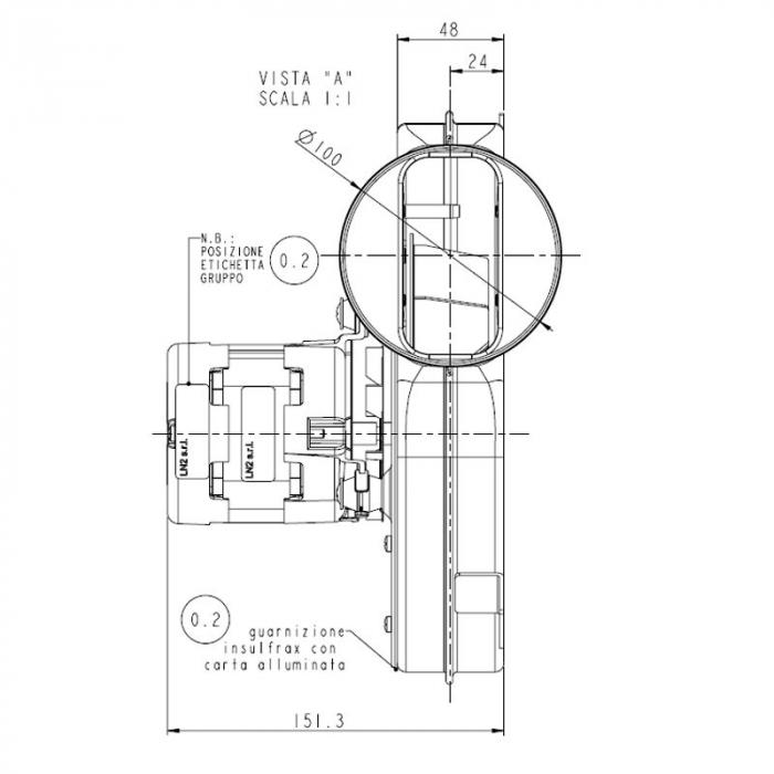 Extractor - extractor de fum pentru sobele cu peleți. 1