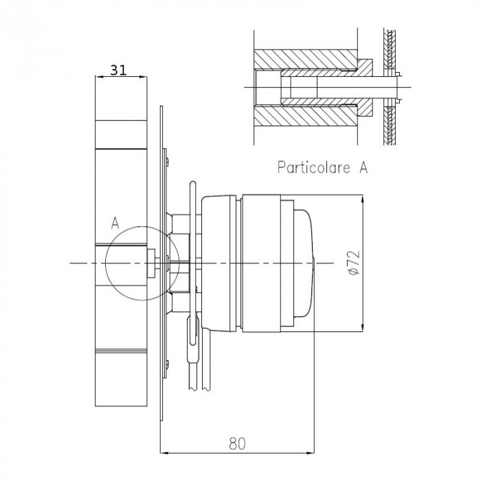 Extractor de fum  pentru sobe cu peleți , motor ECOFIT 2RECA3. 1