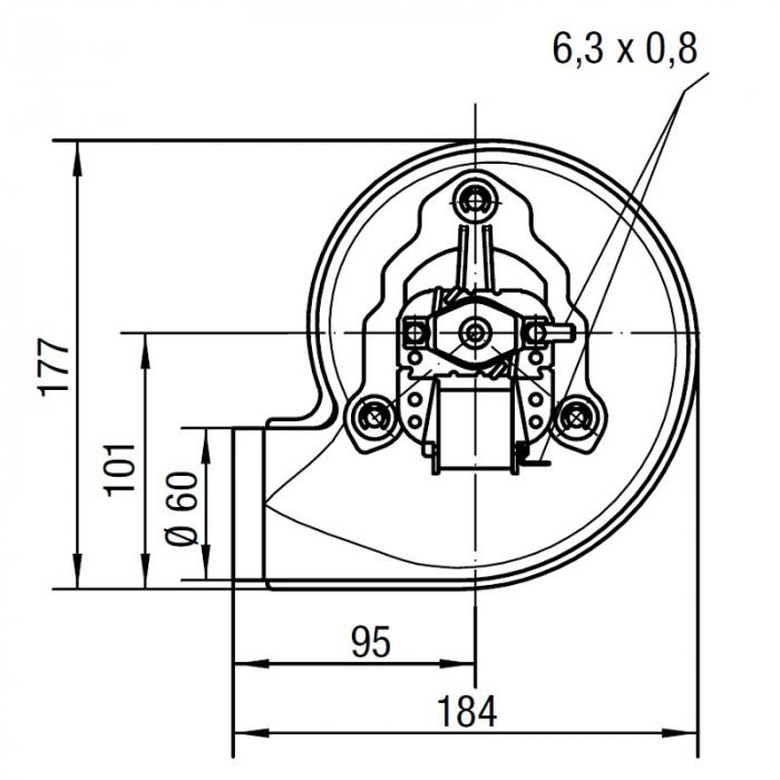 Extractor de fum RLH120 / 3800A17-3038LH-463 1