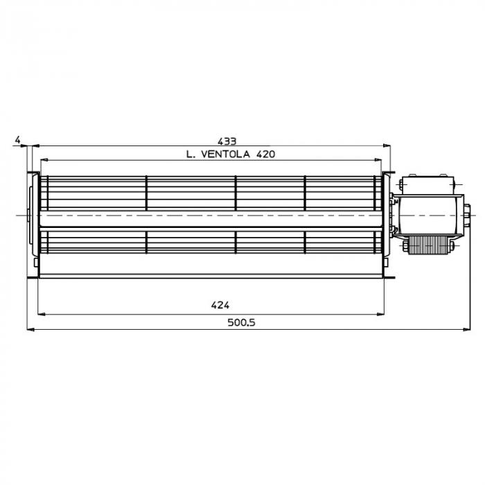 Ventilator tangențial pentru semineu cu peleți TGA 60 / 1-420 / 30 EMMEVI - FERGAS 114612 1
