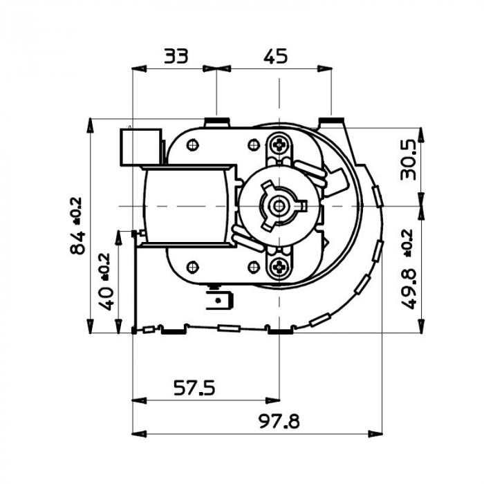 Ventilator tangențial pentru semineu cu peleți TGA 60 / 1-420 / 30 EMMEVI - FERGAS 114612 2