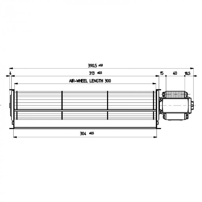 Ventilator tangențial pentru semineu cu peleți TGA 60 / 1-300 / 40 EMMEVI - FERGAS 113908 1