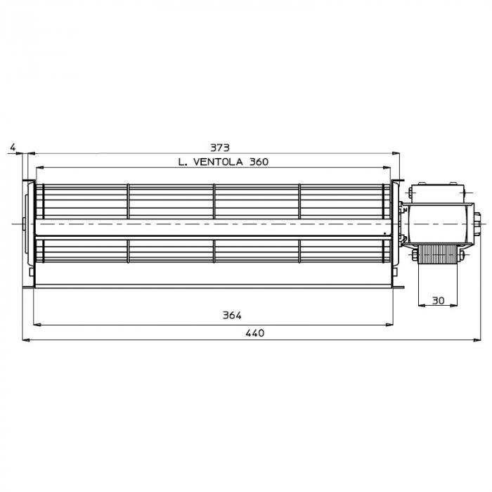 Ventilator tangențial pentru semineu cu peleți TGA 60 / 1-360 / 30 EMMEVI - FERGAS 114433 [1]