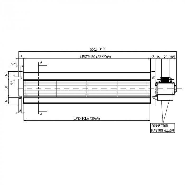 Ventilator tangențial pentru semineu cu peleți TGA 60 / 3-420 / 20 EMMEVI - FERGAS 138551 1