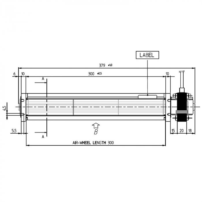 Ventilator tangențial pentru semineu cu peleți TGA 45 / 2-300 / 20 EMMEVI - FERGAS 107602 1