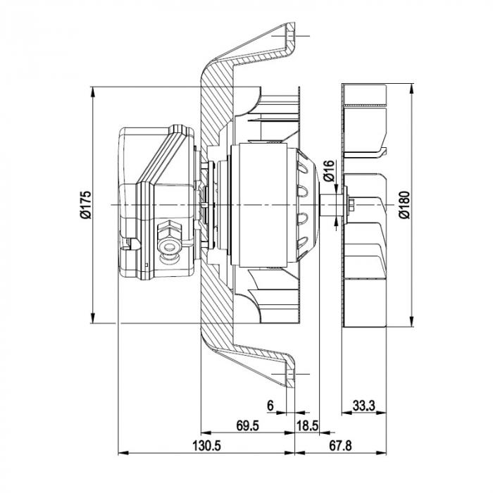 Extractor de fum pentru sobe de peleți  EBM R2E180-AH05-27 [2]