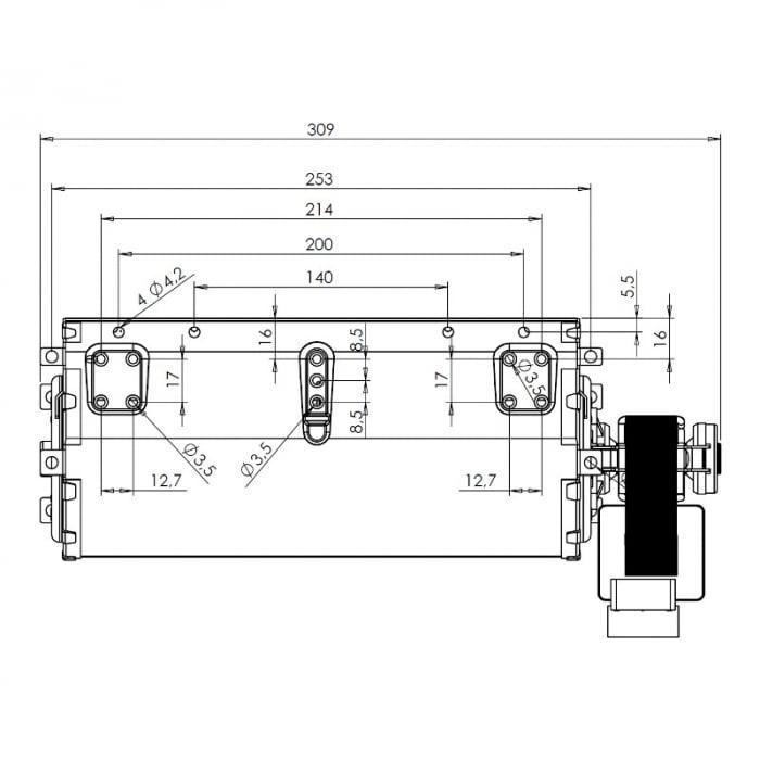 Ventilatorul tangențial pentru semineu cu peleți TRIAL THS24B6-026 - TFA661-D6 1