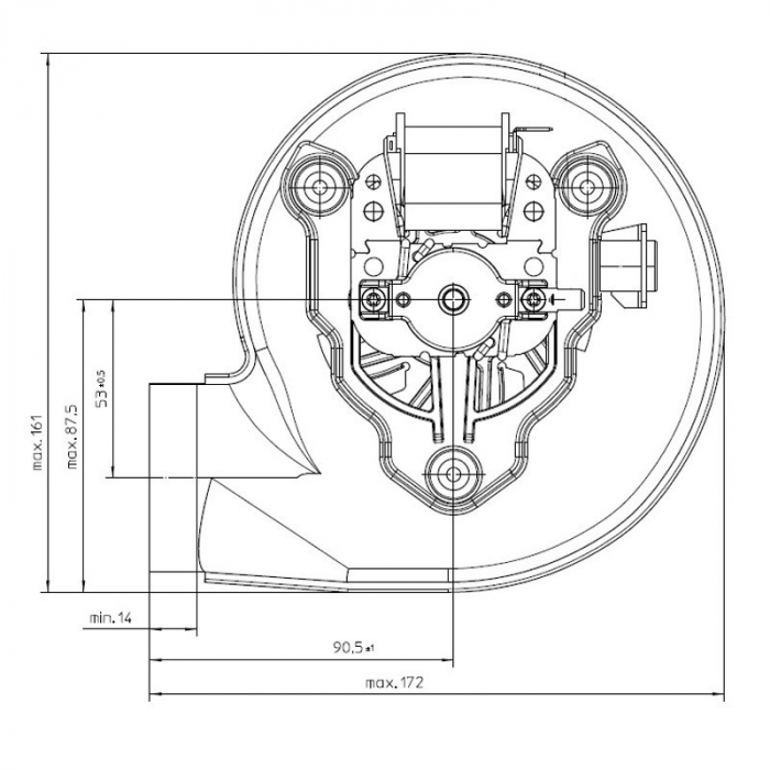 Extractor de fum RLG108 / 4200A29-3030LH-577 1
