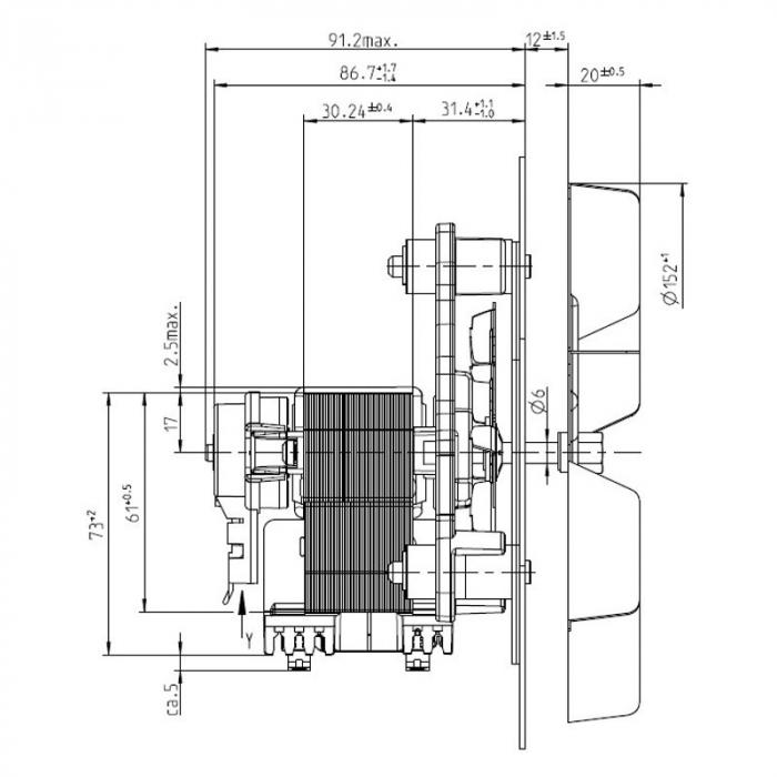Extractor de fum 152 mm 2