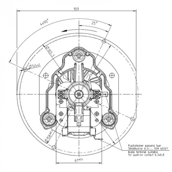 Extractor de fum 152 mm 3