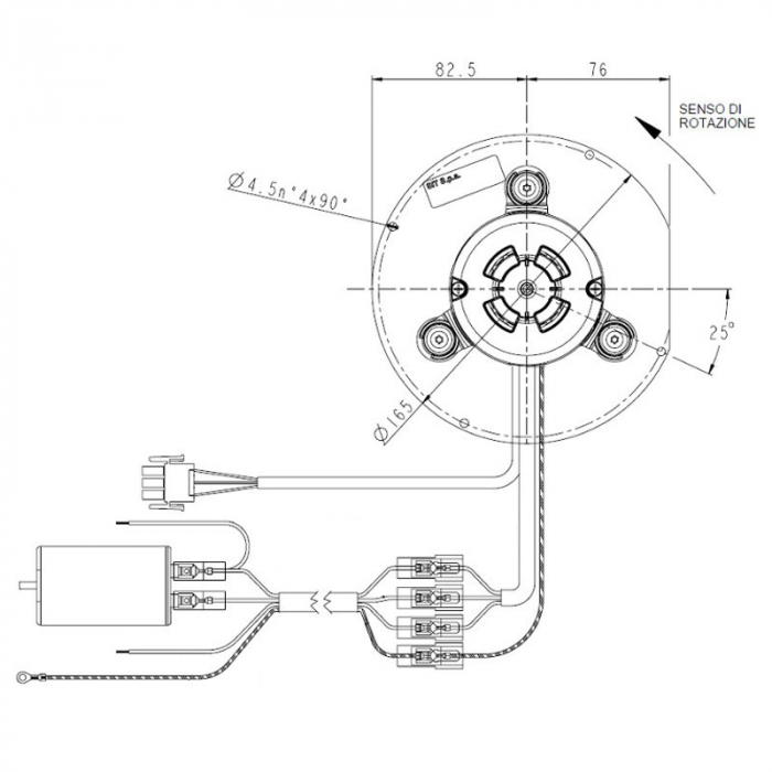 Ventilator extractor de fum  PL20CE0120 0