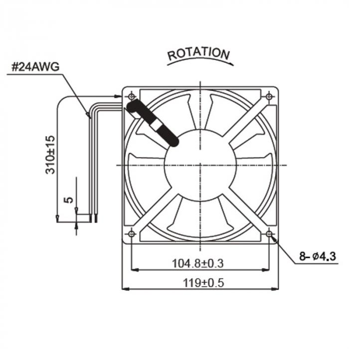 Ventilator de racire axial 120x120x38 mm A12B23HTBMT 1