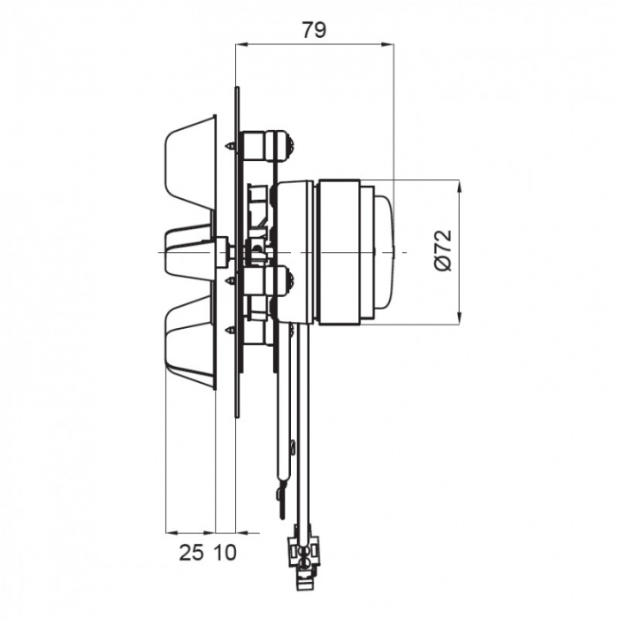 Extractor de fum  pentru sobe cu peleți , motor ECOFIT 2RECA3 [1]
