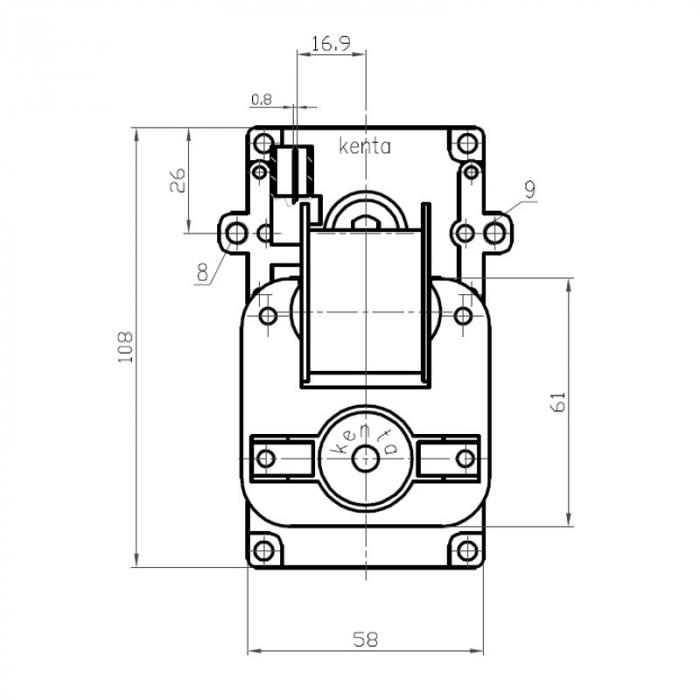 Motor reductor snek, centrale peleti,2 rpm ax 9,5mm K9115068 1