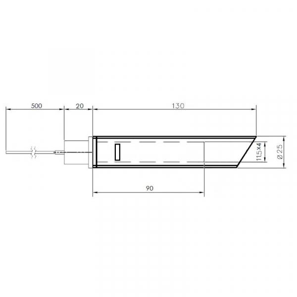 Rezistență  cu cristale de cuarț cu tub transportor de aer 350 wati [1]