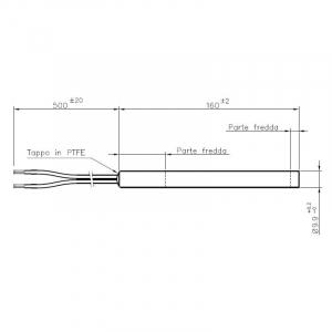 Rezistenta 9,9mm 160mm 300w Cod.14701028 [1]