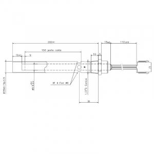 Rezistenta cu tub suport de transport aer 9,99mm, 175mm, 350wati1