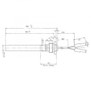 Rezistenta cu filet 1/2 12,5mm 188 350w1