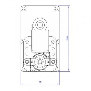 Motor reductor snek, centrale peleti, 2,5 rpm, ax 8,5mm [3]