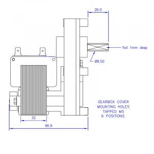 Motor reductor snek, centrale peleti, 3 rpm, ax 8,5mm [1]