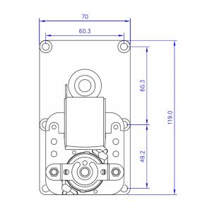 Motor reductor snek, centrale peleti, 3 rpm, ax 8,5mm [2]