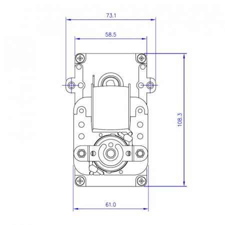 Motor reductor snek, centrale peleti,5 rpm KB1008 [3]