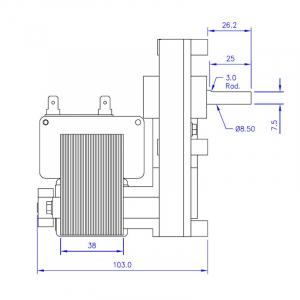 Motor reductor snek, centrale peleti,4,75 rpm ax8,5mm1