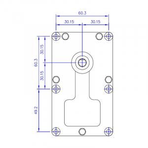 Motor reductor snek, centrale peleti,4,75 rpm ax8,5mm2