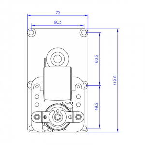 Motor reductor snek, centrale peleti,4,75 rpm ax8,5mm3