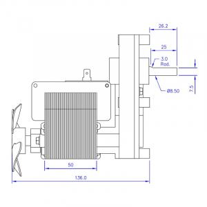 Motor reductor snek, centrale peleti,5,3rpm  ax 8,5mm2